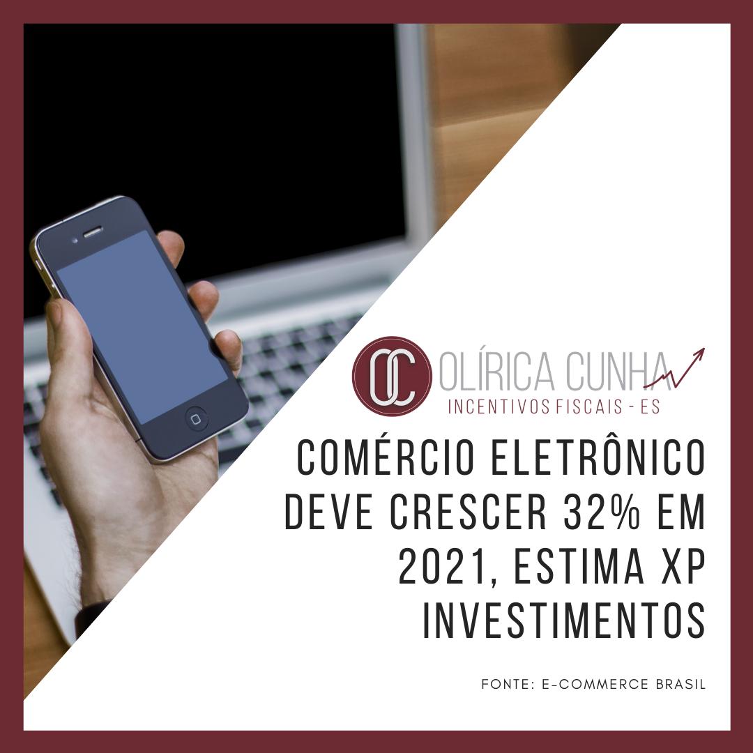 Comércio eletrônico deve crescer 32% em 2021, estima XP Investimentos