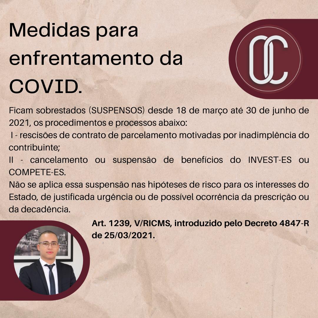 Medidas para enfrentamento da COVID. (1)